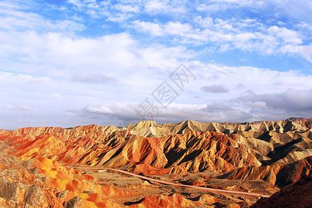 大西北张掖七彩丹霞地貌风光绚丽宏伟图片