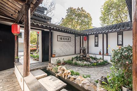 中式别墅庭院环境图片