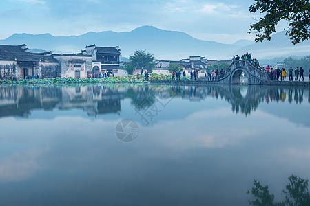 中国最美古村安徽宏村自然风光图片