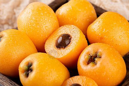 枇杷水果背景图图片