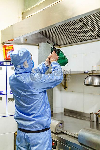 后厨高清下载_疫情过后开始复工消毒高清图片下载-正版图片501583375-摄图网