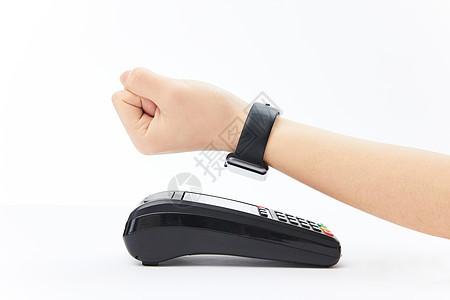 智能手表支付特写图片