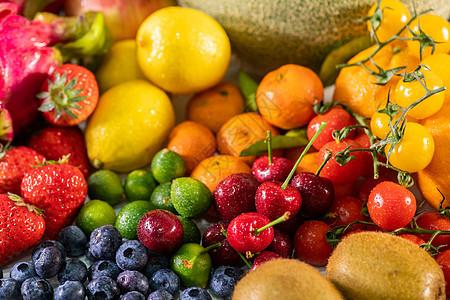新鲜水果特写图片