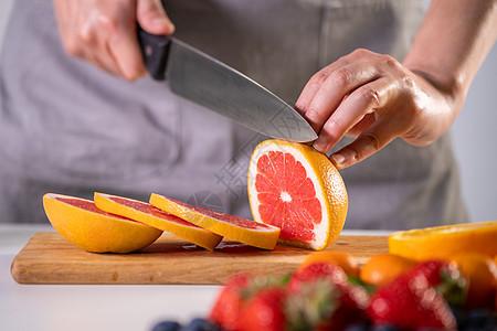 切柚子图片