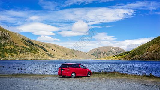 新西兰自驾游南岛风光山川湖泊图片