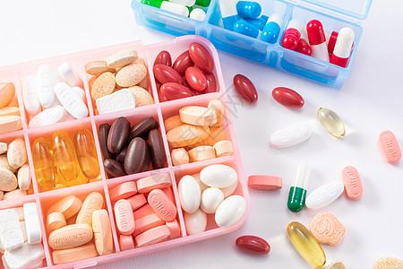 药丸和药盒图片