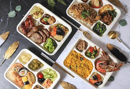 简餐快餐盒饭 图片