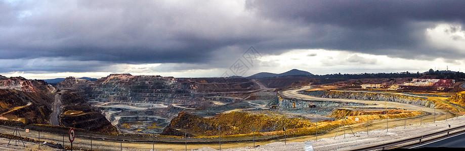 西班牙里奥廷托矿区全景图图片
