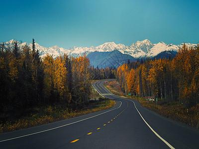 美国阿拉斯加公路图片