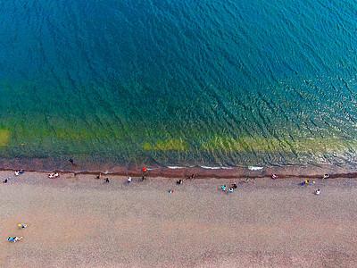 云南抚仙湖航拍图片