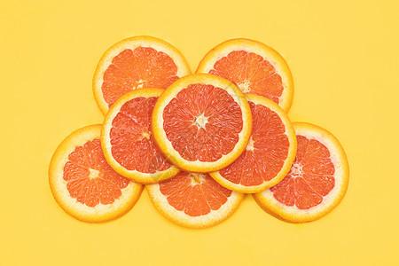 创意血橙水果切片组合图片