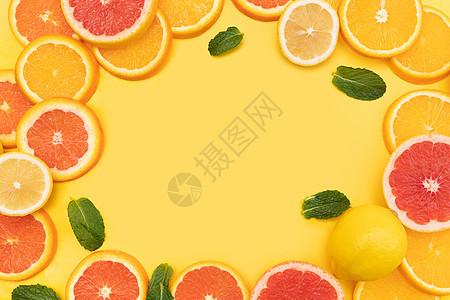 创意水果切片组合图片