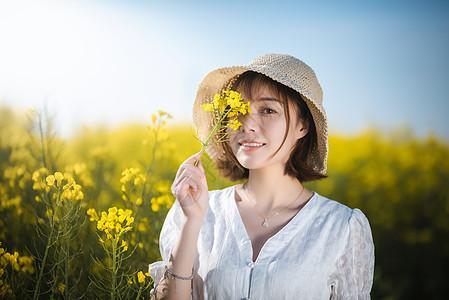 油菜花春景美女图片