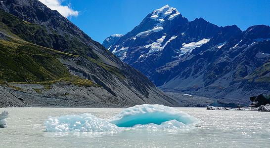新西兰库克山冰川融化图片
