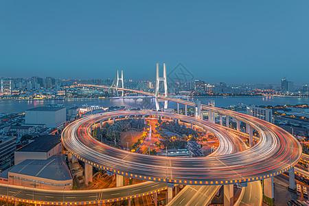 南浦大桥灯光夜景风光图片