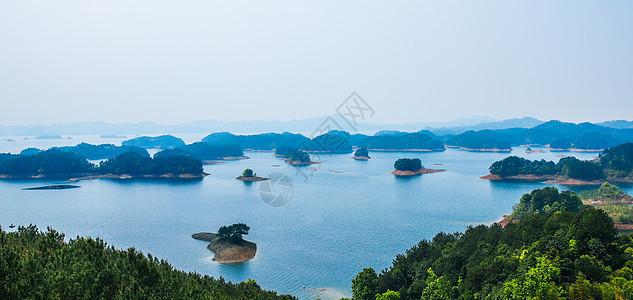 梅峰岛观景台观千岛湖全景图片