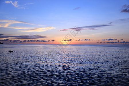 海面日出图片