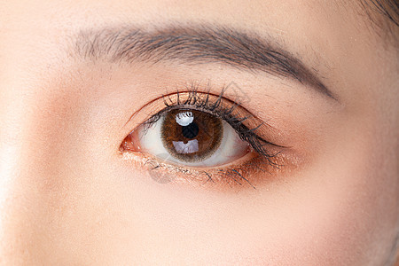 女性眼睛眉毛眼部细节特写 图片