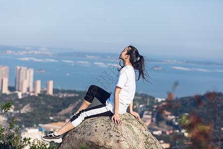 厦门山顶旅游美女人像图片