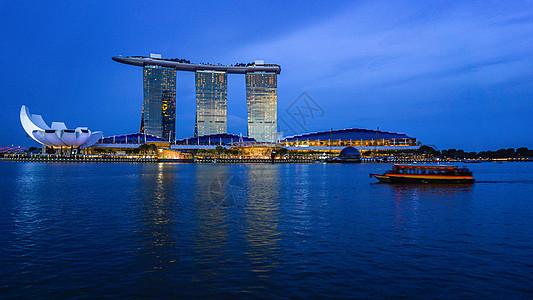 新加坡金沙酒店的傍晚时刻图片