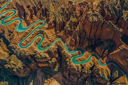 甘肃黄河石林国家地质公园航拍图片
