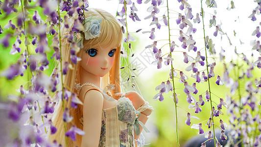 紫藤花姑娘图片