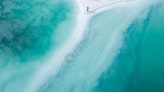 青海海西网红景区翡翠湖图片