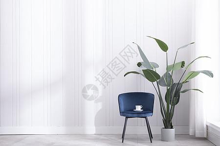 白色简约沙发留白高清图图片