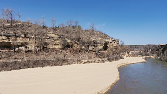 西北榆林红石峡生态景区峡谷及榆溪河图片