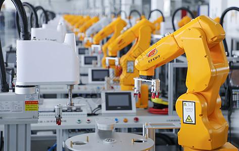 工业机器人特写图片