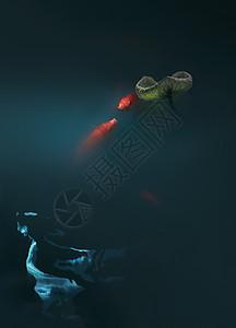 锦鲤戏水图片