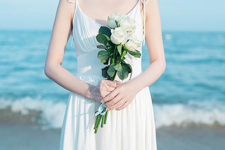 海边唯美人像图片