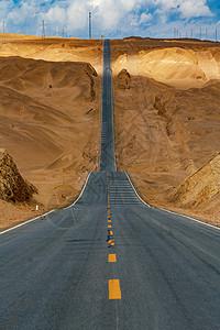 无人区波浪公路图片