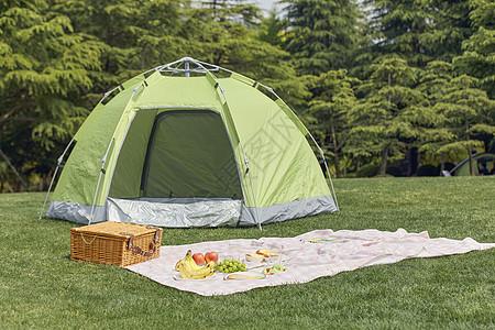 户外帐篷野餐图片