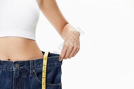 年轻女性减肥瘦身成功图片
