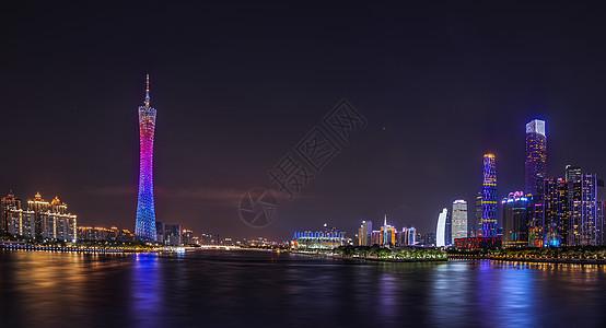 珠江新城夜景图片