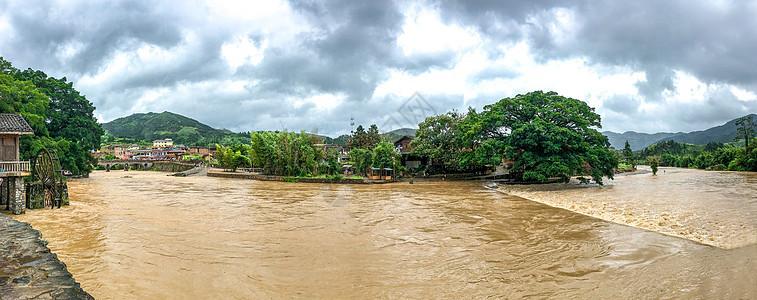 暴雨洪水全景图片
