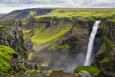 冰岛瀑布风光图片