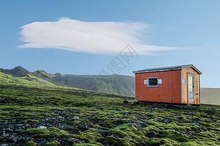 冰岛欧洲红房子风光图片