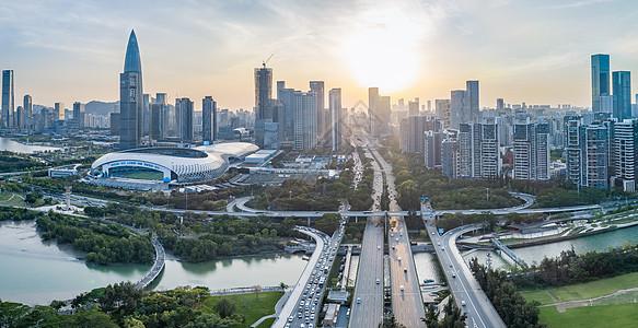 深圳南山区滨海沙河西立交桥图片