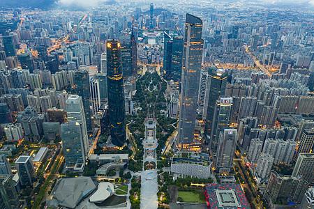 广州珠江新城航拍图片