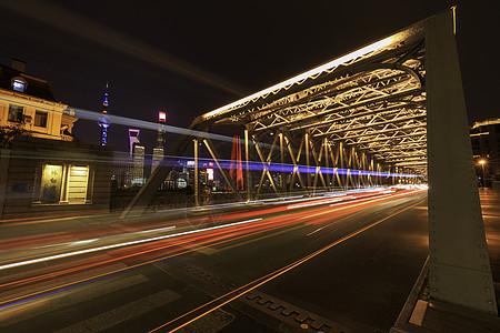 上海外滩外白渡桥夜景图片