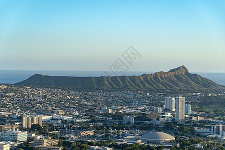 夏威夷檀香山钻石山图片