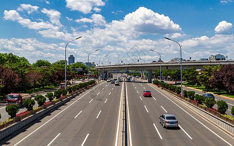 北京北二环车流图片