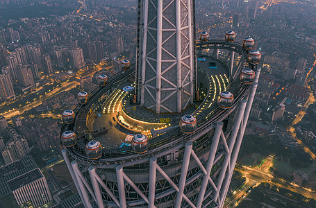 广州塔上航拍风光图片