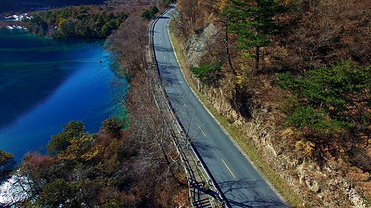 九寨沟路上的风景图片