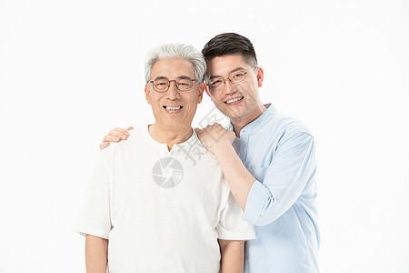 中老年父子形象图片