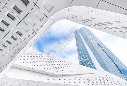 南京地标性现代建筑保利大剧院科技感建筑线条图片
