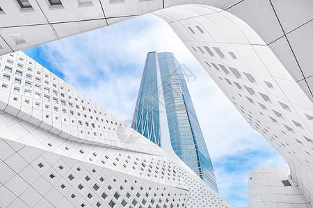 南京地标性现代建筑保利大剧院科技感建筑图片