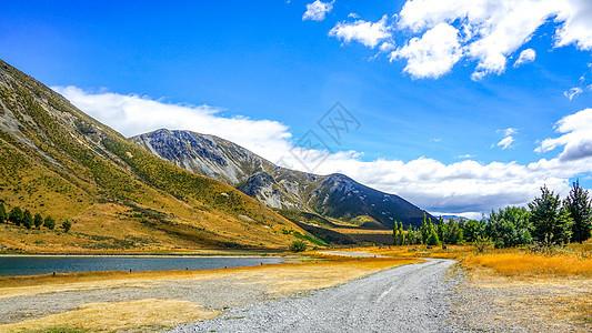 新西兰山路自驾风光图片